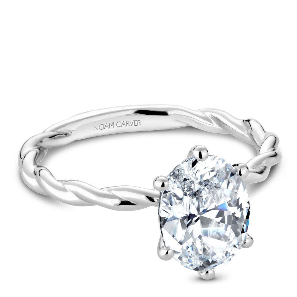 Noam Carver Braided Solitaire Engagement Ring B167-01A