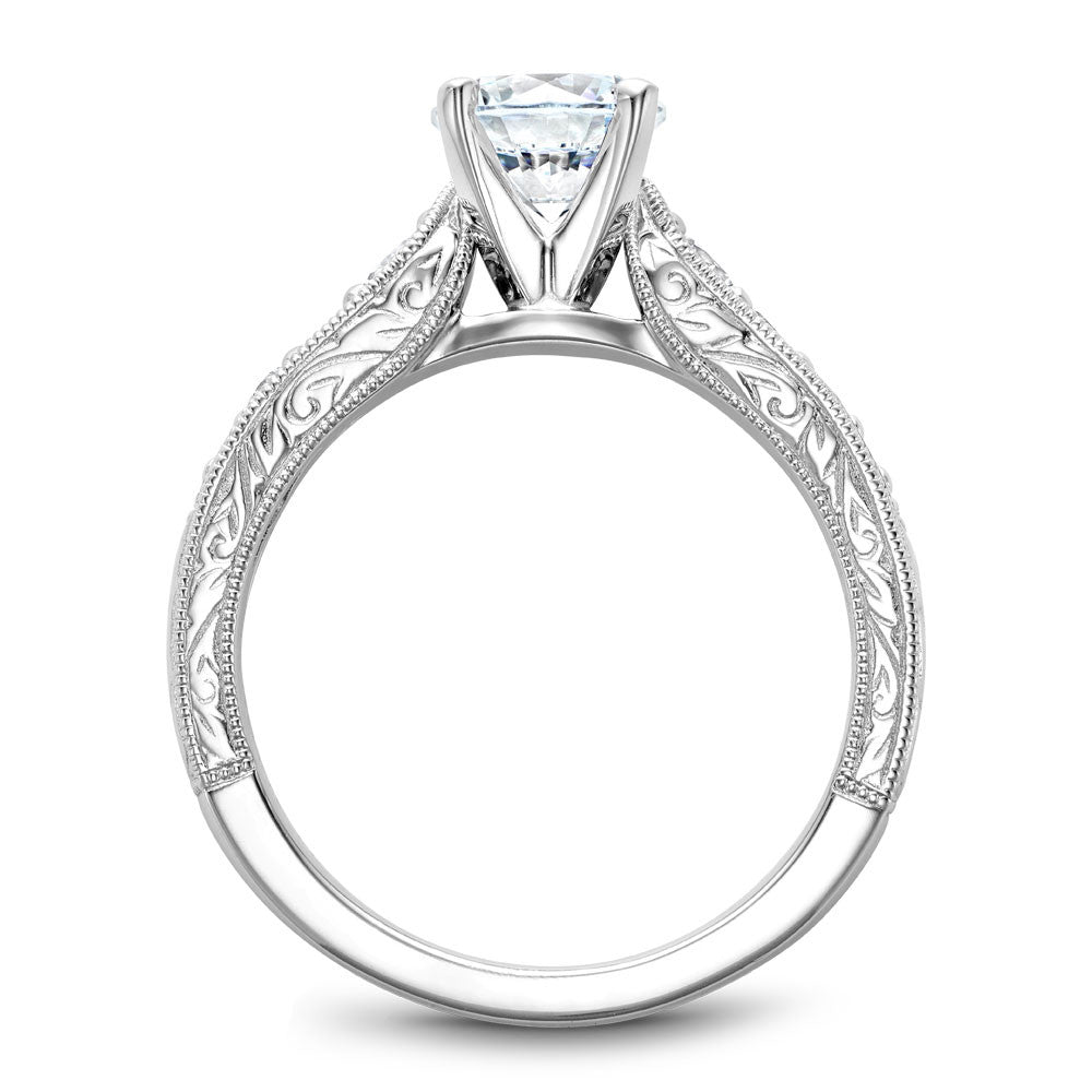 Noam Carver Carved Detail Prong Set Diamond Engagement Ring B174-01A