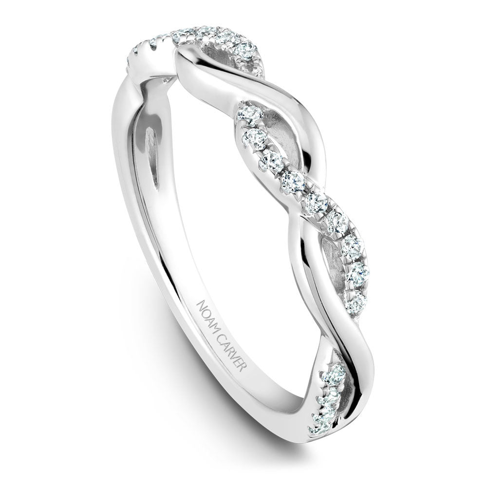 Noam Carver Diamond Twist Wedding Band B185-02B