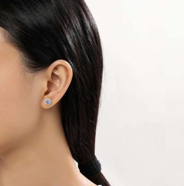 Lafonn Signature Lassaire Simulated Diamond Aquamarine Birthstone Earrings-March BE001AQP