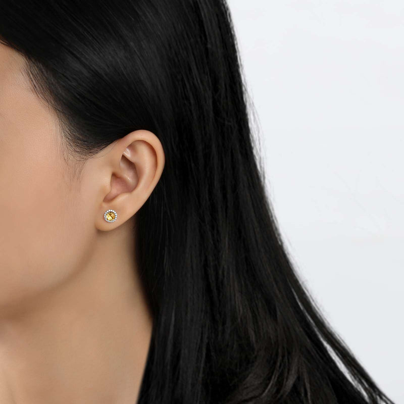 Lafonn Signature Lassaire Simulated Diamond Genuine Citrine Birthstone Earrings-November BE001CTP