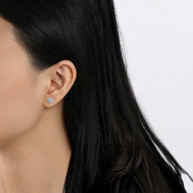 Lafonn Signature Lassaire Simulated Diamond Birthstone Earrings-April BE001DAP