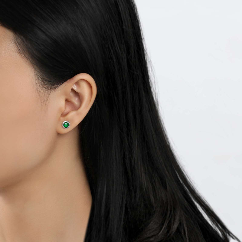 Lafonn Signature Lassaire Simulated Diamond Emerald Birthstone Earrings-May BE001EMP