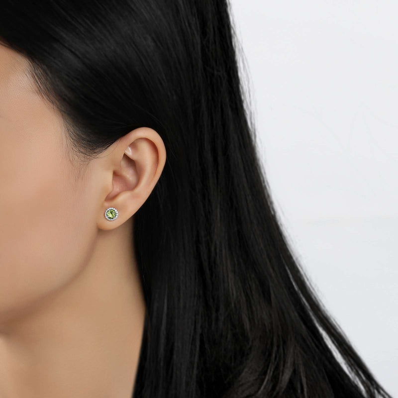 Lafonn Signature Lassaire Simulated Diamond Genuine Peridot Birthstone Earrings-August BE001PDP
