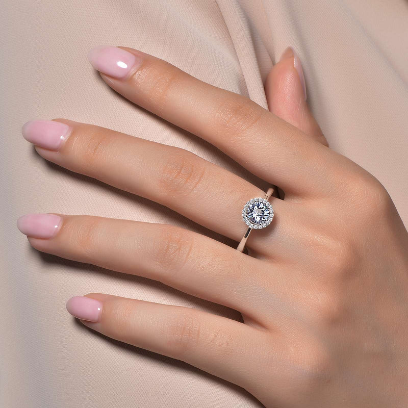 Lafonn Signature Lassaire Simulated Diamond Aquamarine Birthstone Ring-March BR001AQP