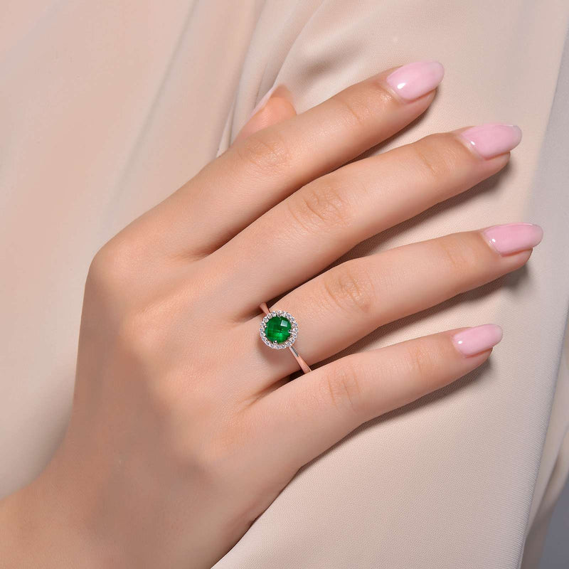 Lafonn Signature Lassaire Simulated Diamond Emerald Birthstone Ring-May BR001EMP