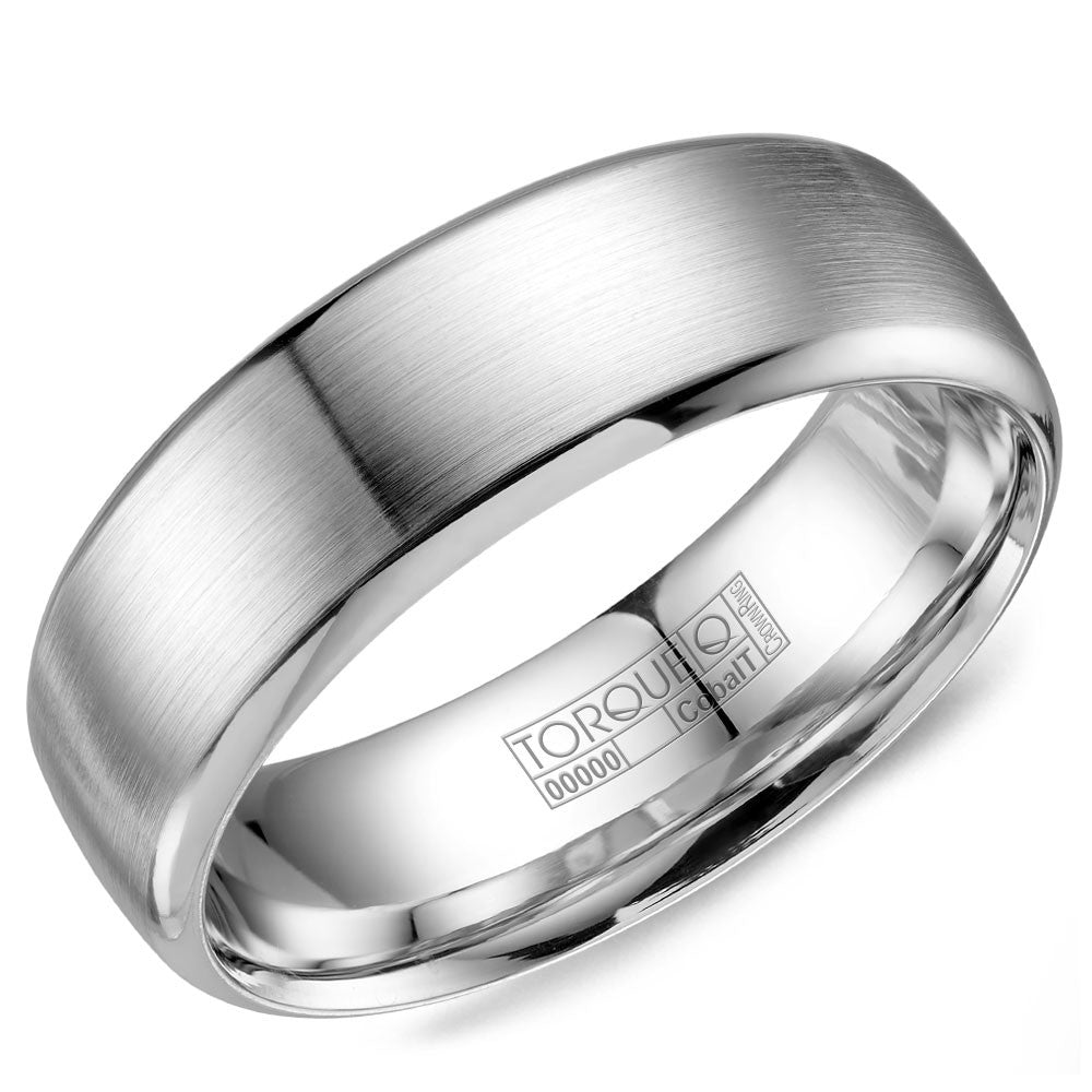 Torque Cobalt Collection 7MM Wedding Band with Brushed Finish CB-7000