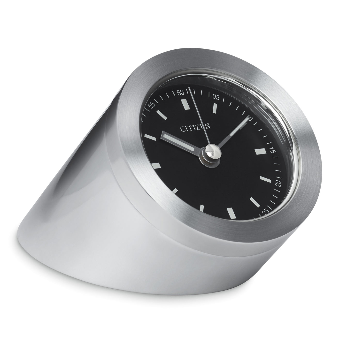 Citizen Workplace Silver Tone Metal Cylindrical Clock CC1006