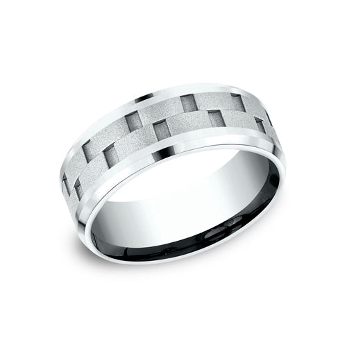 Benchmark Comfort Fit Uniquely Cut Center Wedding Band CF188493