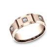 Benchmark Comfort Fit Satin-Finished w/ High Polished Beveled Edge Wedding Band CF528159