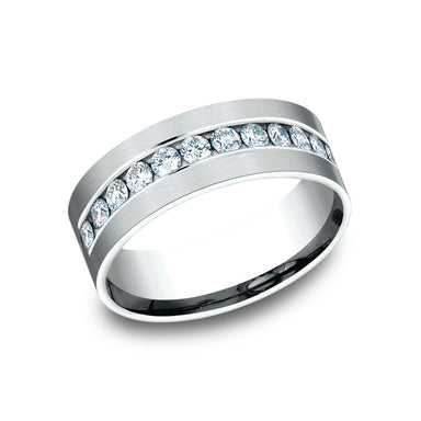 Benchmark Comfort Fit Channel Set Diamond Wedding Band CF528531