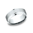 Benchmark Comfort Fit Powder Coated Finish w/ High Polished Edge Wedding Band CF68486