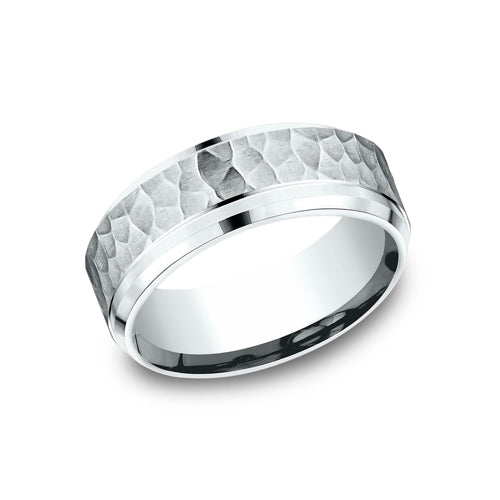 Benchmark Comfort Fit Hammered Finish Wedding Band CF68490