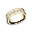 Benchmark Comfort Fit Satin Finished Channel Set Diamond Wedding Band CF717573