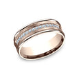 Benchmark Comfort Fit Satin-Finished Pave Set Channel Diamond Wedding Band CF717593