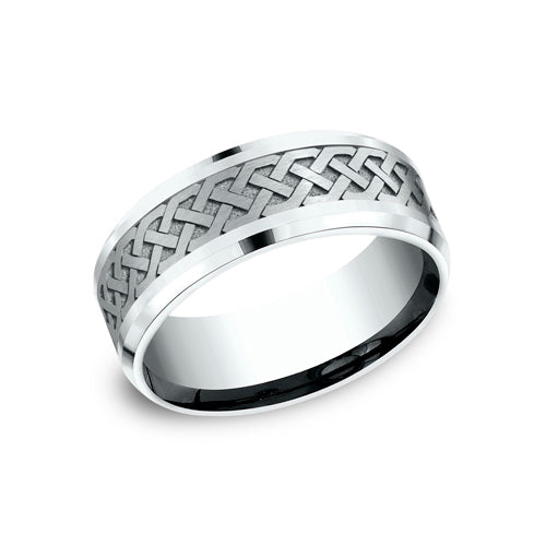 Benchmark Comfort Fit Endless Celtic Knot Wedding Band CF808361