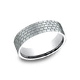 Benchmark Comfort Fit Satin Finished Brick Pattern Wedding Band CF846331