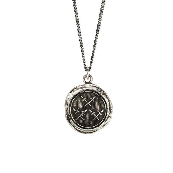 Pyrrha-Crossed Daggers Talisman Necklace