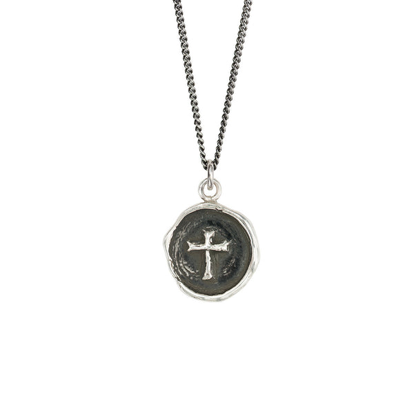 Pyrrha-Cross Talisman Necklace