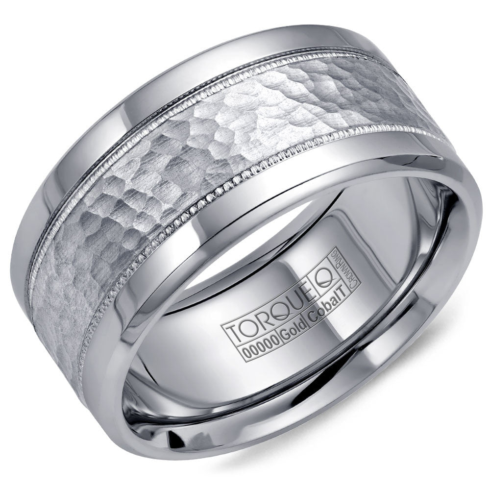 Torque Cobalt & Gold Collection 10.5MM Wedding Band with White Gold Center CW003MW105