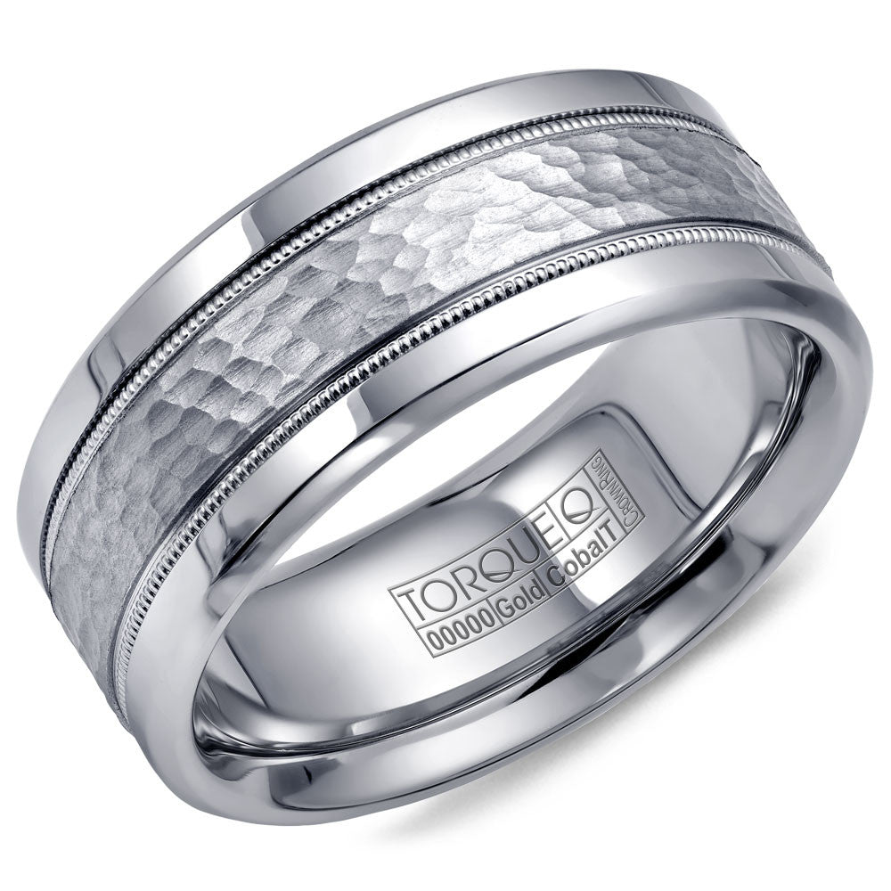 Torque Cobalt & Gold Collection 9MM Wedding Band with White Gold Center CW003MW9
