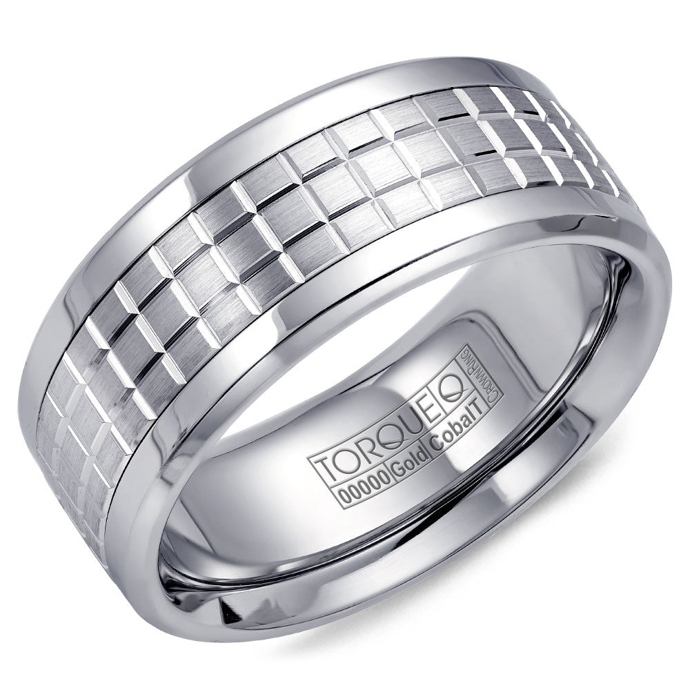 Torque Cobalt & Gold Collection 9MM Wedding Band with White Gold Center CW009MW9