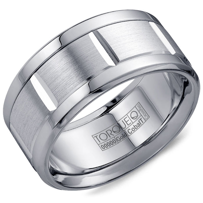 Torque Cobalt & Gold Collection 10.5MM Wedding Band with White Gold Center CW010MW105
