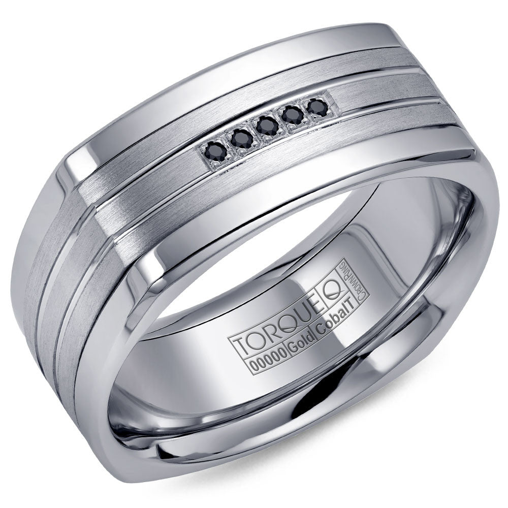 Torque Cobalt & Gold Collection 9MM Wedding Band with White Gold Center CW055MW9