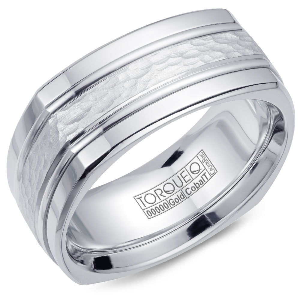 Torque Cobalt & Gold Collection 9MM Wedding Band with White Gold Center CW060MW9