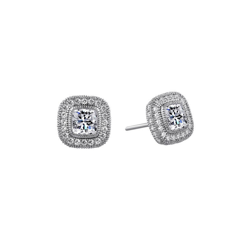 Lafonn Signature Lassaire Simulated Diamond Halo Earrings E0036CLP