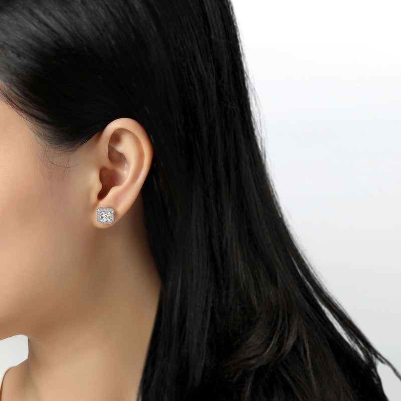 Lafonn Signature Lassaire Simulated Diamond Square Halo Earrings E0038CLP