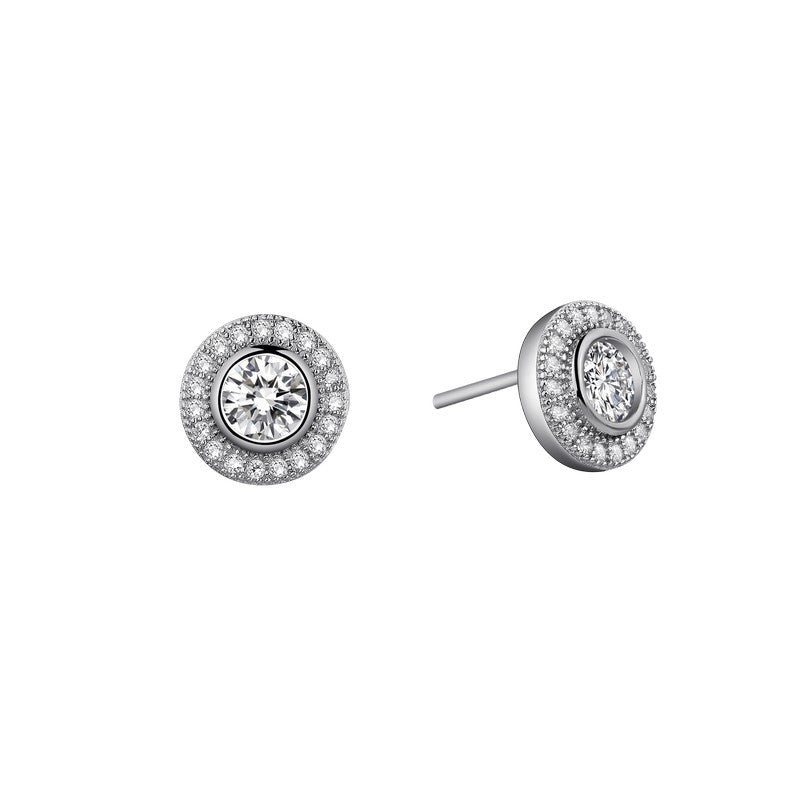 Lafonn Signature Lassaire Simulated Diamond Halo Earrings E0049CLP