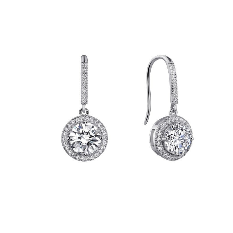 Lafonn Signature Lassaire Simulated Diamond Drop Halo Earrings E0054CLP