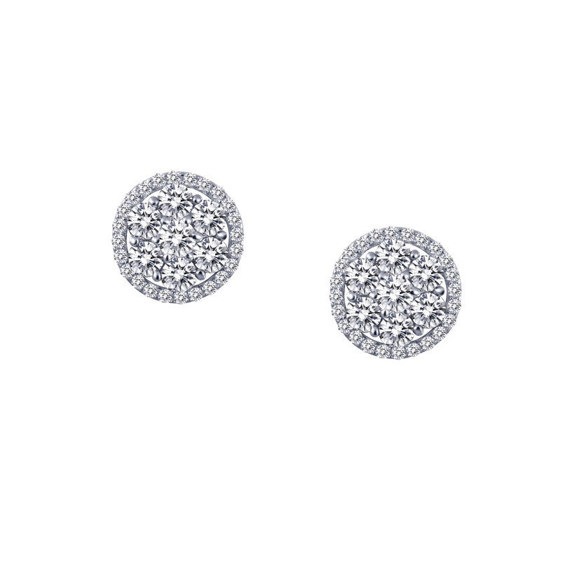 Lafonn Signature Lassaire Simulated Diamond Halo Earrings E0187CLP
