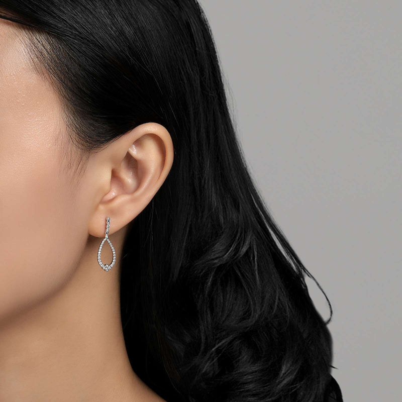 Lafonn Signature Lassaire Simulated Diamond Drop Earrings E0192CLP