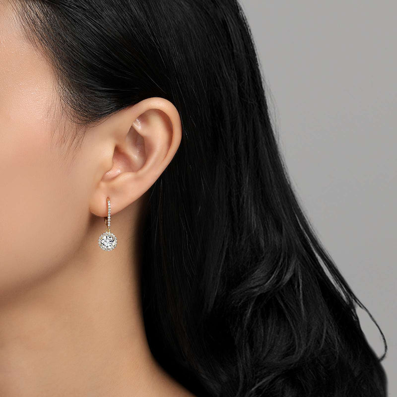 Lafonn Signature Lassaire Simulated Diamond Drop Halo Earrings E0193CLG