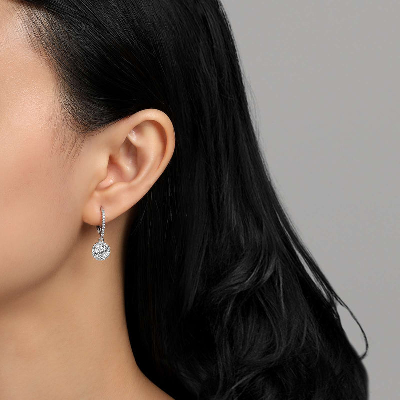 Lafonn Signature Lassaire Simulated Diamond Drop Halo Earrings E0193CLP