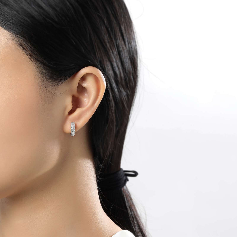 Lafonn Signature Lassaire Simulated Diamond Huggie Hoop Earrings E0199CLP