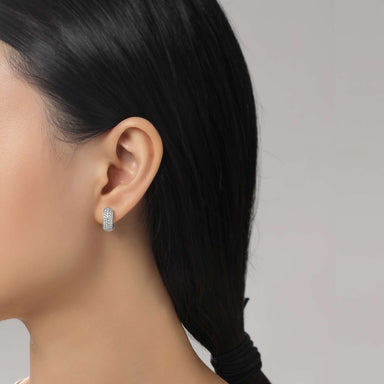 Lafonn Signature Lassaire Simulated Diamond Huggie Hoop Earrings E0200CLP
