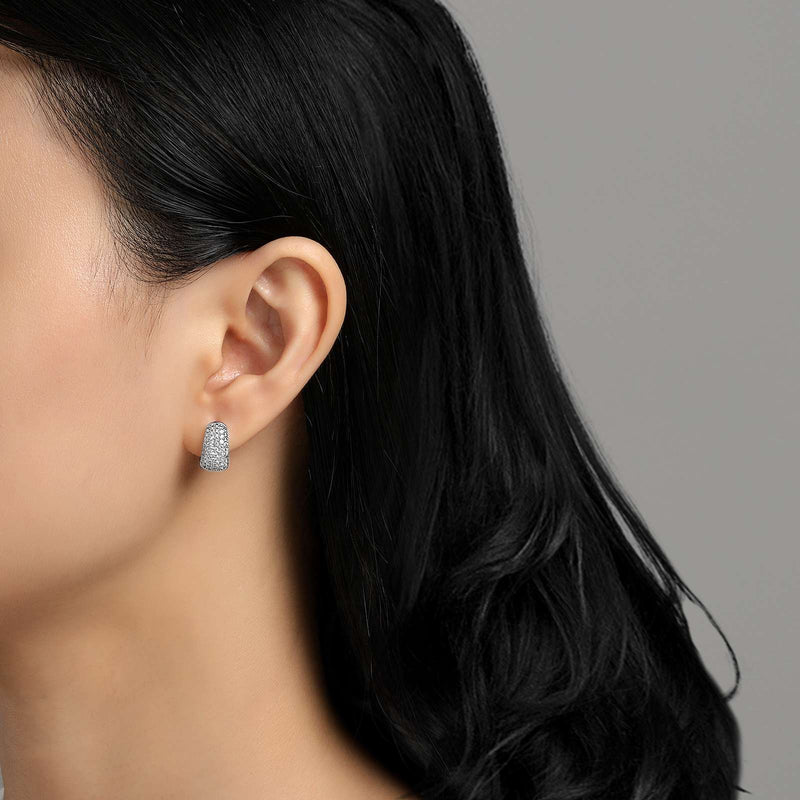 Lafonn Signature Lassaire Simulated Diamond Huggie Hoop Earrings E0202CLP