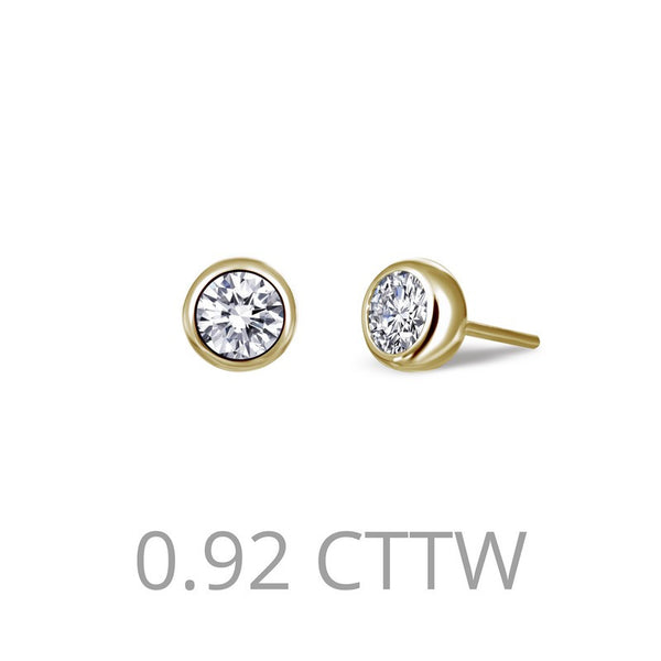 Lafonn Signature Lassaire Simulated Diamond 0.92ct Bezel Stud Earrings E0213CLG