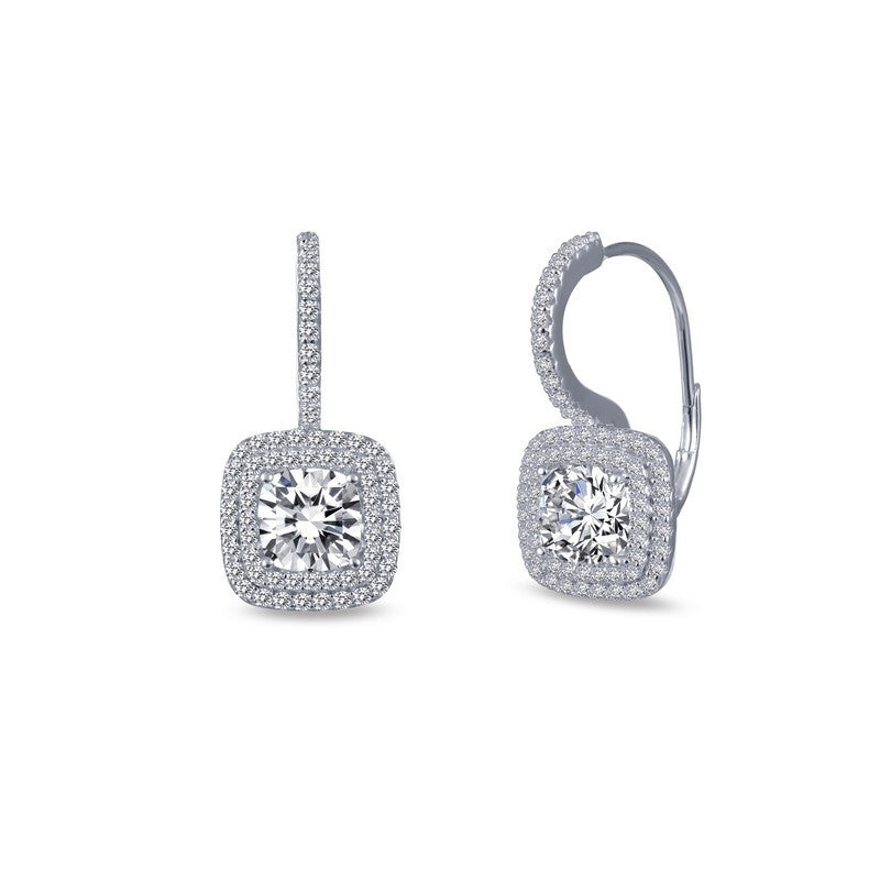 Lafonn Signature Lassaire Simulated Diamond Halo Earrings E0214CLP