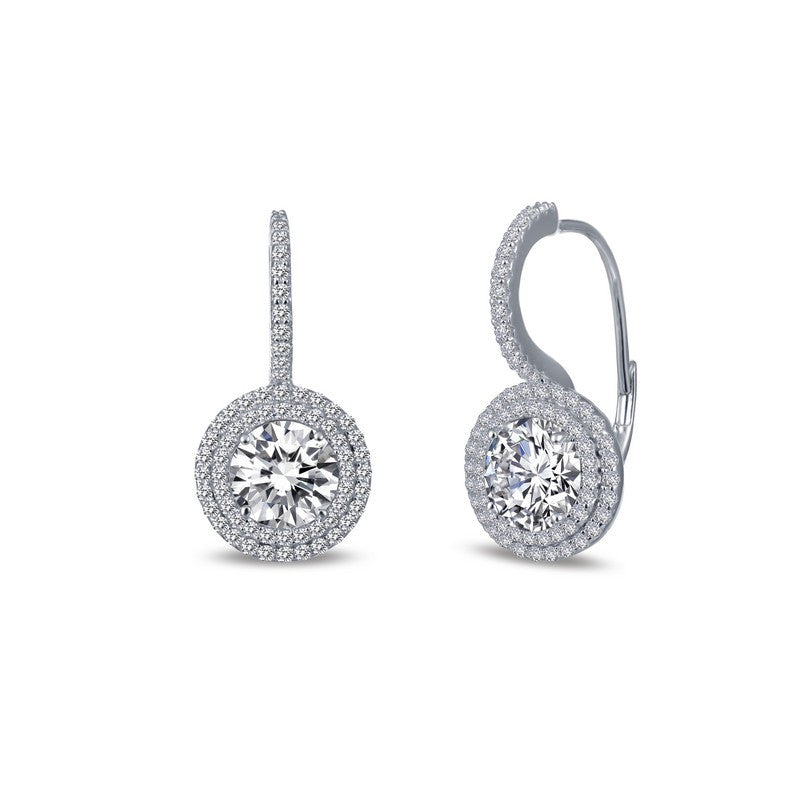 Lafonn Signature Lassaire Simulated Diamond Halo Earrings E0215CLP