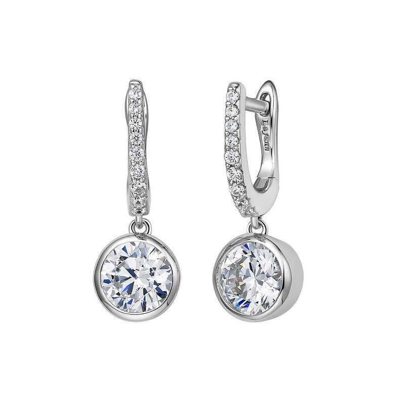 Lafonn Signature Lassaire Simulated Diamond Huggie Bezel Drop Earrings E0237CLP
