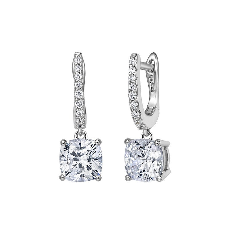 Lafonn Signature Lassaire Simulated Diamond Huggie Drop Earrings E0238CLP