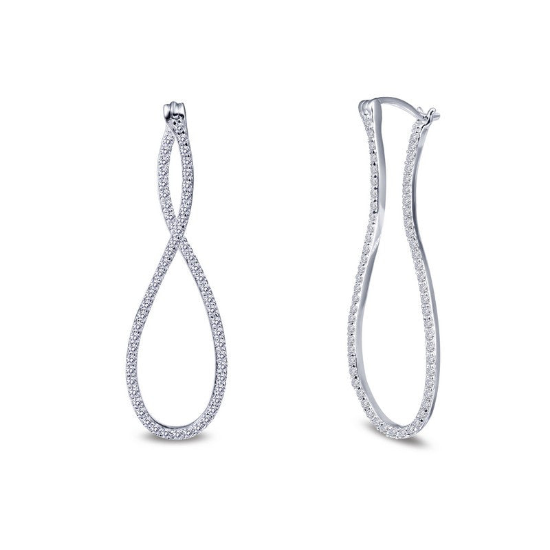 Lafonn Signature Lassaire Simulated Diamond Infinity Hoop Earrings E0242CLP