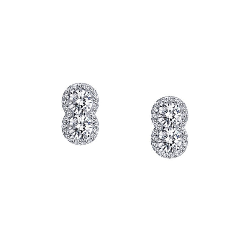 Lafonn Signature Lassaire Simulated Diamond Two-Stone Earrings E0252CLP