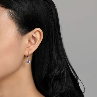 Lafonn Signature Lassaire Simulated Diamond & Tanzanite Dangle Earrings E0388CTP