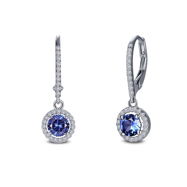 Lafonn Signature Lassaire Simulated Diamond & Tanzanite Dangle Earrings E0390CTP