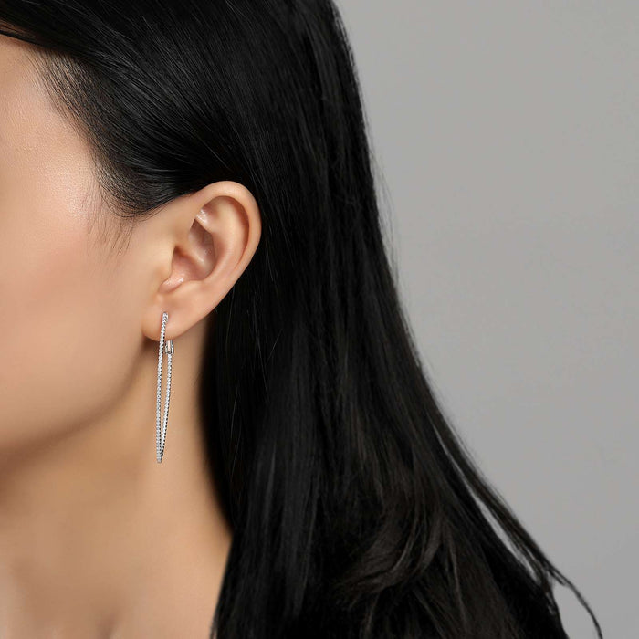 Lafonn Signature Lassaire Simulated Diamond Marquise Inside & Out Hoop Earrings E3001CLP